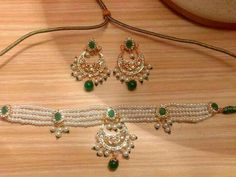 Rajputi jewellery beautiful necklace (chick) set by Kuldeep Singh Jewelry Design Earrings, Gold Jewellery Design, Beaded Jewelry, Silver Jewelry, Jewelry Necklaces, Gold Jewelry Simple, Stylish Jewelry, Fashion Jewelry, Hyderabadi Jewelry