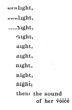visual-poetry:  »nocturne« by bob grumman (+)