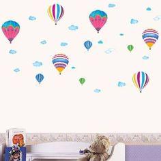 Luftballong-klistermerker
