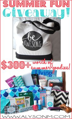 Alyson M: Summer Fun Giveaway! $300+ in prizes!