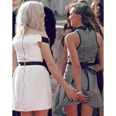 jade and perrie | little mix, perrie edwards and jade thirlwall ❤ liked on Polyvore featuring tops and brown top