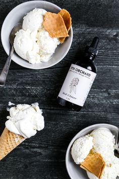 Chamomile Honey Ice Cream — page & plate Ice Cream At Home, Make Ice Cream, Whipped Cream, Chamomile Recipes, Chamomile Tea, Ice Cream Containers, Creamed Honey, Cook Up A Storm, Heavy Whipping Cream