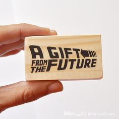 BTTF Rubber stamp Delorean: A gift from the future. by Biterswit