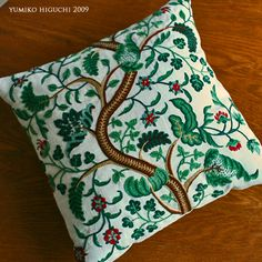 embroidered cushion no5