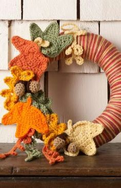 Autumn wreath inknown origin