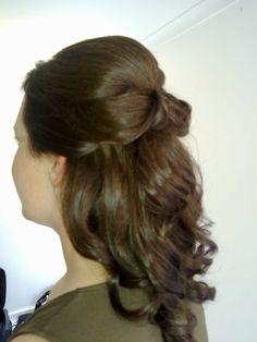 www.harpier.com.au  #halfuphalfdown #bridalupstyle #loosecurls #weddinghair Enquire now for wedding hair and Makeup!
