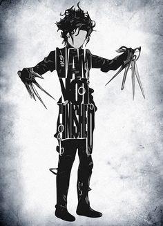 Edward Scissorhands Poster featuring the digital art Edward Scissorhands - Johnny Depp by Inspirowl Design Art Tim Burton, Film Tim Burton, Minimalist Poster, Minimalist Art, Johnny Depp, Eduardo Scissorhands, Edward Scissorhands Tattoo, Poster Photo, Typographie Logo
