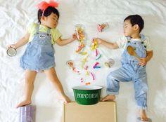 40張「媽媽趁孩子睡著帶他們踏上大冒險」超萌照片!原來雙胞胎還有這種
