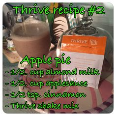 Tip: use applesauce cups for kids, they are premeasured in 1/2 cups, measure milk with empty applesauce cup, add cinnamon and thrive shake mix! Toss the trash & enjoy!  https://mhlynde.le-vel.com/IndustryShift