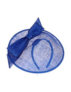 Natalie Sculptured Bow on Band Fascinator | Blue | Accessorize Also in black