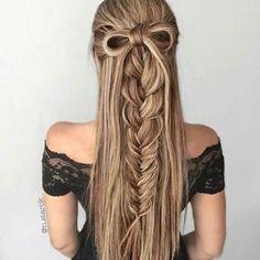 Half up fishtail braid hairstyle