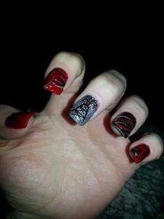 Oil rig nails Oilfield Wife, Beauty Tips, Beauty Hacks, Oil Rig, Pedi, Rigs, Hair Makeup, Polish, Nail Art