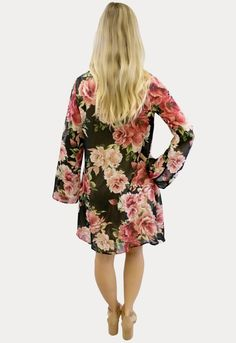 Floral V-Neck Maternity Dress - Sexy Mama Maternity This lightweight floral v-neck maternity dress is so sweet! Great for a baby shower, Sunday brunch, or everyday wear. Double layered, offering a loose feel without the issue of the sheer being see through. It is perfect for all nine months of pregnancy and beyond.