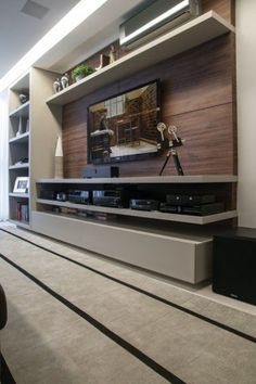 Decor: Sala de tv com home