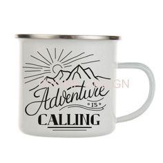 HRNEK PLECHÁČEK - Adventure is calling Adventure, Mugs, Tableware, Design, Dinnerware, Tumblers, Tablewares, Adventure Movies, Mug