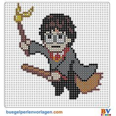 Bügelperlen Vorlagen von Harry Potter zum Herunterladen und Ausdrucken