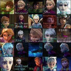 Jack y Elsa Jack Y Elsa, Jack Frost And Elsa, Funny Disney Jokes, Disney Memes, Frozen And Tangled, Disney Frozen, Cute Disney, Disney Art, Disney Stuff
