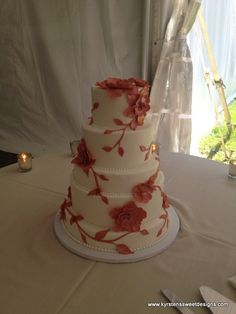 Beautiful Summer Wedding Cake - Kyrsten's Sweet Designs | Specialty Cakes and Cookie Favors