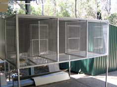As well as being easy to clean, suspended aviaries make sense for bird owners who live near a dam or creek. This is because these tend to attract snakes.