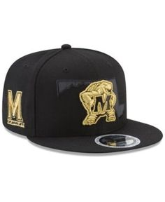 c9543079e78 New Era Maryland Terrapins State Flective 9FIFTY Snapback Cap - Black Gold  Adjustable New Era