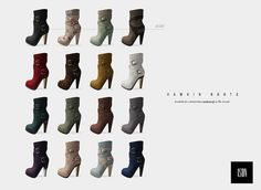 ISON - hawkin boots (color chart), via Flickr.