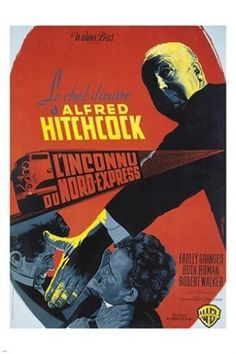 alfred hitchcock's STRANGERS ON A TRAIN vintage FRENCH movie poster 24X36 Brand New. 24x36 inches. Will ship in a tube. - Multiple item purchases are combined the next day and get a discount for domes
