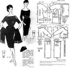 Barbie Patterns, Vogue Sewing Patterns, Vintage Sewing Patterns, Clothing Patterns, Dress Patterns, Sewing Clothes, Diy Clothes, Diy Fashion Videos, Barbie Vintage