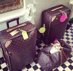 ♡ SecretGoddess ♡ www.pinterest.com/secretgoddess/ Louis Vuitton luggages