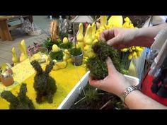 Królik, zając z papierowej wikliny [rabbit, bunny, wicker paper, Easter decorations] (Claoodia Art) - YouTube