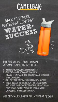 Pin for your chance to win 2 eddy bottles -- one for you, and one for a friend!