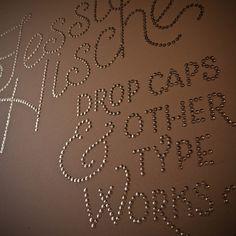 Nailhead typography. Artist: Jessica Hische