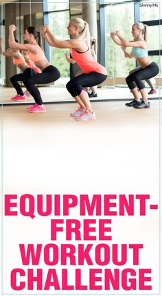 Try this Equipment Free Workout Challenge if you don't want to spend money on a gym membership!