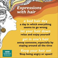 Hair Idioms - #LearnEnglish #EnglishVocabulary @English4Matura