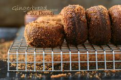 The Urban Poser:: Sugared Gingerbread Cake Donuts (Grain/Gluten/Dairy Free)
