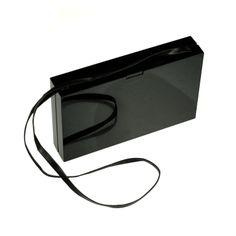 Crown \u0026amp; Earrings Satin Box Clutch Bag, Black - Alexander McQueen ...