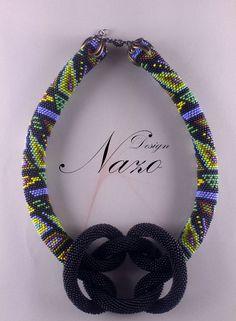 Beaded Necklace - Beaded Crochet Neckalce