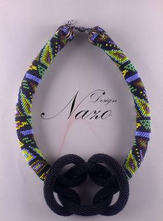 Beaded Necklace - Beaded Crochet Neckalce