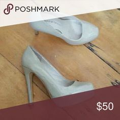 Nude platform pumps Patent leather pumps ! They go with everything. Closet staple! Shoes Heels