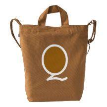Custom Letter Q Initial Monogram BAGGU Duck Bag Duck Canvas Bag