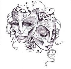 Эскизы тату маски | ТриТатушки