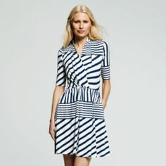 Peter Som for DesigNation Striped Surplice Dress - Women's