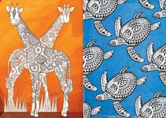 Free Art Therapy Colouring-In Pages