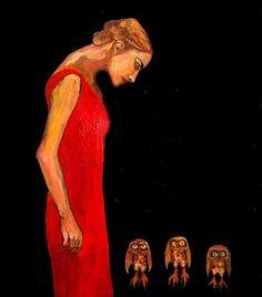 ELI HALPIN  Lady with Owls (2008)