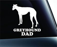 #2 Greyhound Dad Dog Symbol Decal Paw Print Dog Puppy Pet Family Breed Love Car Truck Sticker Window (White) ExpressDecor http://www.amazon.com/dp/B00SZBWVG2/ref=cm_sw_r_pi_dp_A152ub1993B9Q