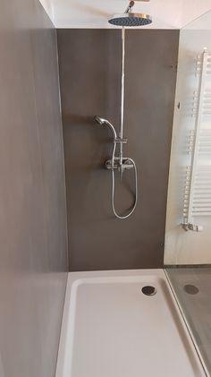 Rénovation d'une douche à l'italienne en carrelage grand format - Céramique XXL. Grand Format, Sink, Bathtub, Bathroom, Home Decor, Bath, Standing Bath, Washroom, Bath Tube