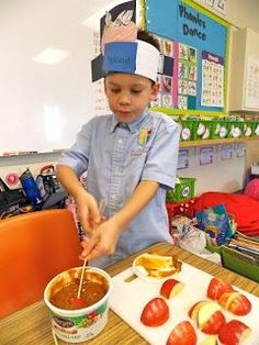 Johnny Appleseed Day! Caramel apple dipping station?! yes, please!!!