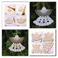 Tweet     Crochet angels are a popular motif. These crochet angels hanging on the Christmas tree look very pretty and easy to make ....