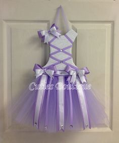 Tutu Dress Hair Bow Holder Lavender by CutiesBoutique on Etsy, $29.99