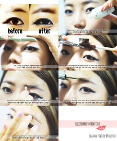 How to make stright brow ;)