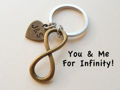 Bronze Infinity Symbol Keychain Gift Couples by JewelryEveryday